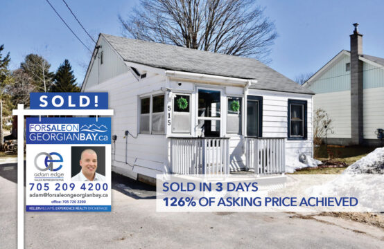 SOLD! 515 Russell Street, Midland, ON