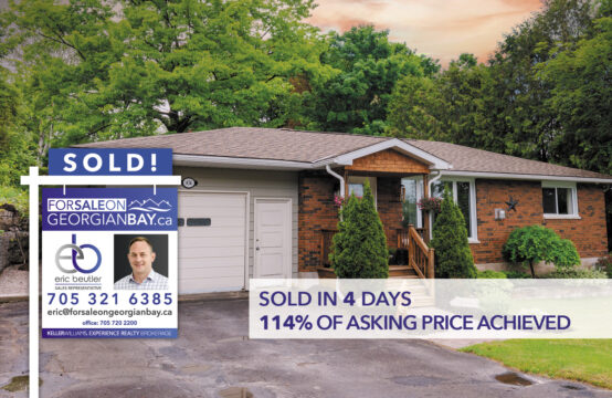 SOLD! 434 Hayes Street, Port McNicoll, ON