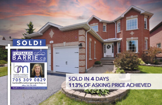 SOLD! 482 Ferndale Drive North, Barrie, ON
