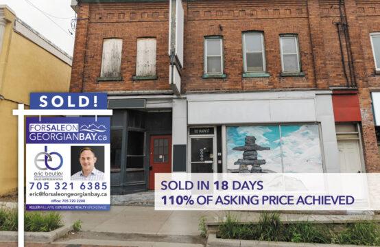 SOLD! 102 Main Street, Penetanguishene, ON