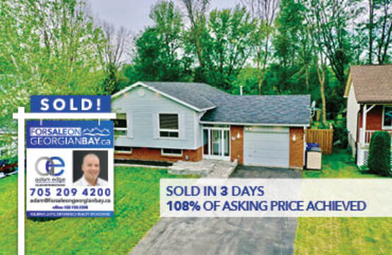 SOLD! 12 West Street, Coldwater, ON