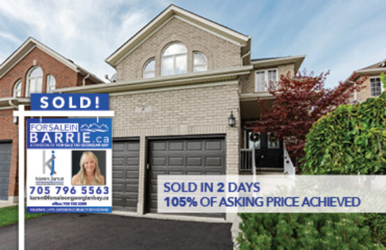 SOLD! 8 Parisian Crescent, Barrie, ON
